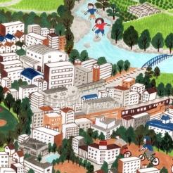阪急電車も描きました。